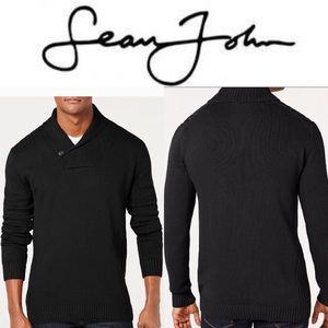 Men's Solid Shawl Collar Sweater